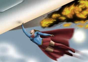 Supergirl speedpainting by Huang-Jun