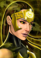 Sinestro Corps Wonder Woman by Huang-Jun