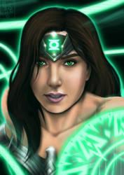 Green Lantern Wonder Woman by Huang-Jun