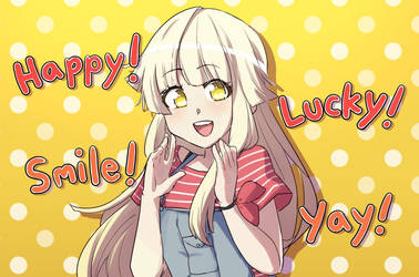 happy! lucky! smile! YAY! by NintenDash