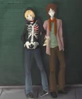 Blondie and his Zombie by NiranAroon