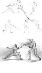 Fencing Sketches by NiranAroon