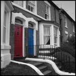 Red and Blue Doors by wiebkefesch