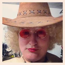 Self-Portrait as a Hippie by wiebkefesch