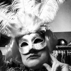 Self-Portrait with Mask by wiebkefesch