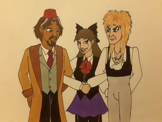 Playing with Nadir and Jareth by Dragon-hobbit101