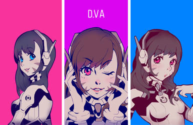 Overwatch D.Va by yukionetwo