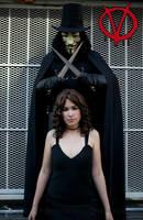 V for Vendetta: V and Evey by VandorWolf