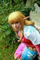 Legend of Zelda Skyward Sword: Skyloft Zelda by VandorWolf