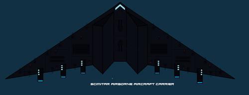 Scimitar airborne aircraft carrier by EmperorMyric