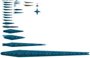 Union of Worlds Navy Core Fleet by EmperorMyric