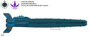 Cylaurian Tethulas Class Missile Battleship by EmperorMyric