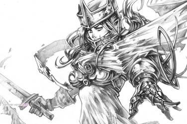 Knight Pencil by CottonyHotchkiss