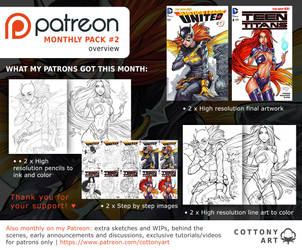 Patreon Monthly Pack 2 Overview by CottonyHotchkiss