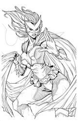 Batwoman Inks | lineart by CottonyHotchkiss
