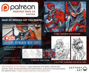 Patreon Monthly Pack 4 Overview by CottonyHotchkiss