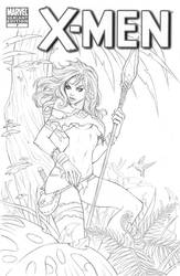 Rogue blank cover commission | WIP by CottonyHotchkiss