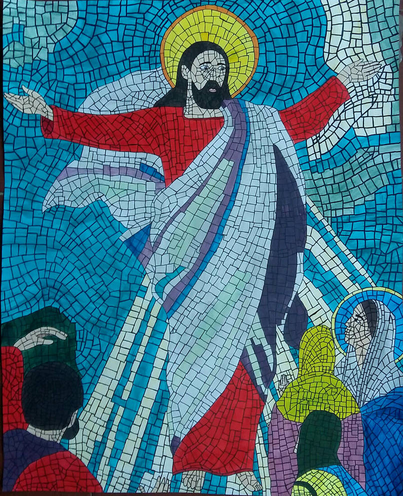 Religious mosaic colored by AnaScarlet