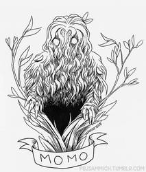 Momo the Missouri Monster Inktober 2018 by sammich