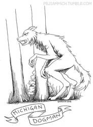 Michigan Dogman Inktober 2018 by sammich