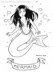 Mermaid Inktober 2018 by sammich