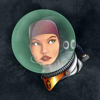 Cosmonaut Space Girl by SarahPerryman