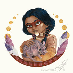 Native American portrait by JustineF-Illustrator