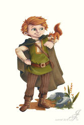 Tobias, the nature lover by JustineF-Illustrator