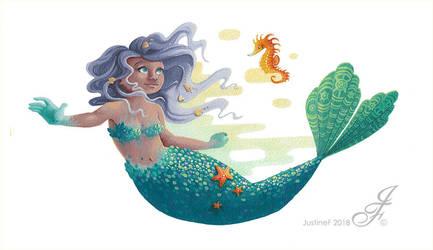 Ingrid, the mermaid by JustineF-Illustrator
