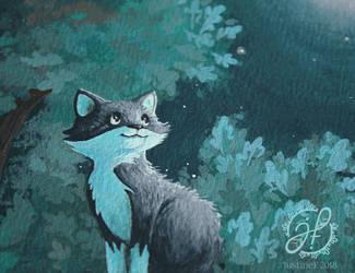 Dreamy Cat by JustineF-Illustrator