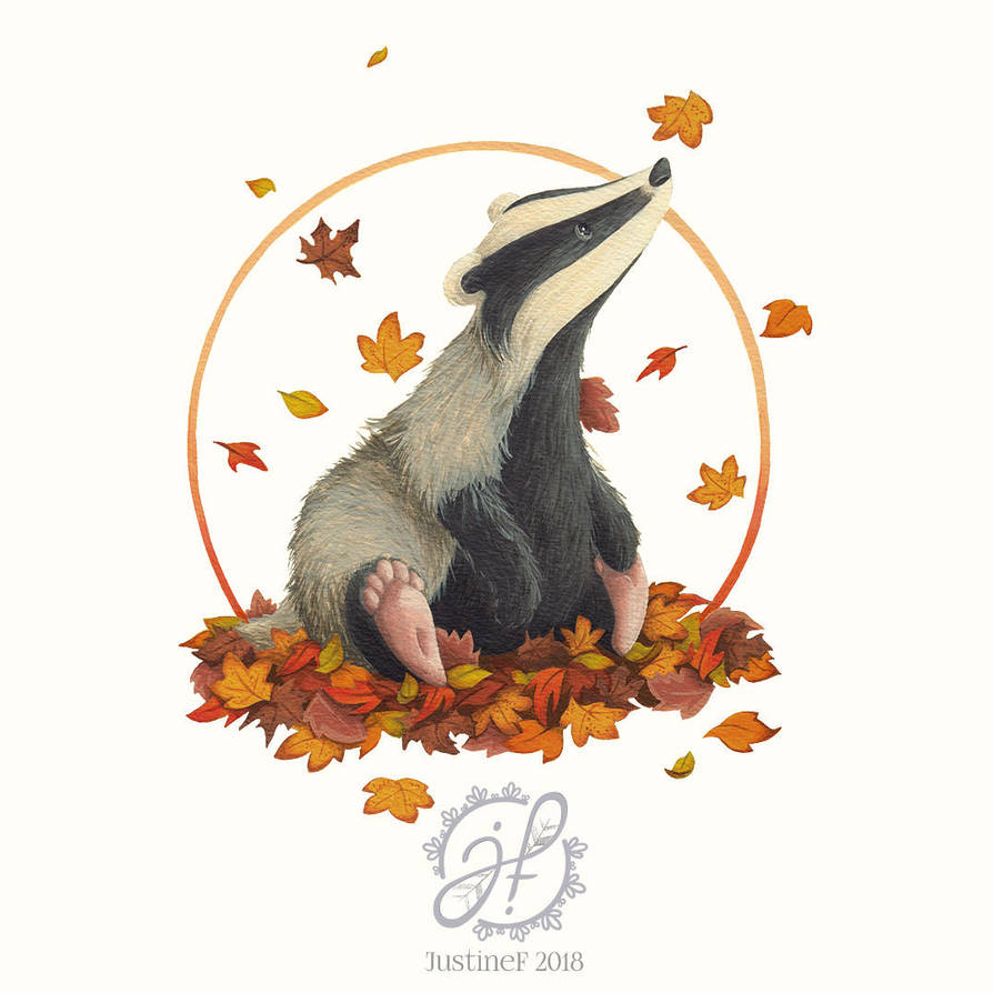 Observing Badger by JustineF-Illustrator