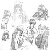 Riku, Roxas and Axel by kaddabo