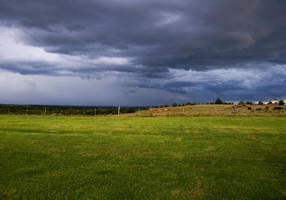 Storm Brewing On The Plain by SamSpade1941