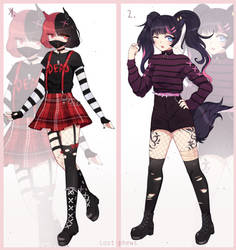 Edgy cute girls adopts OPEN by Lost-phews