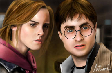 Hermione and Harry Painting by arthurforzus