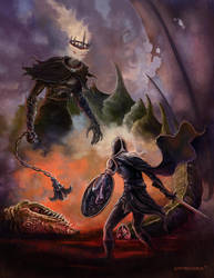 Eowyn vs The Nazgul by Ostrander