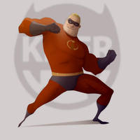 Mr. Incredible practice by CoranKizerStone