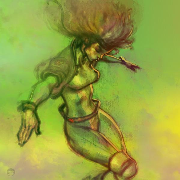 Skratchwork of Rogue by CoranKizerStone