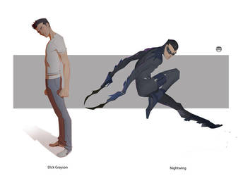 Grayson...........NightWing by CoranKizerStone