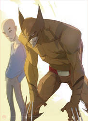Charlie X and old man Logan by CoranKizerStone