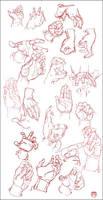 Hand Study by CoranKizerStone