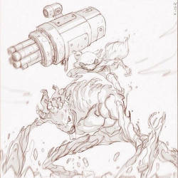 Rocket Racoon and Groot Time by CoranKizerStone