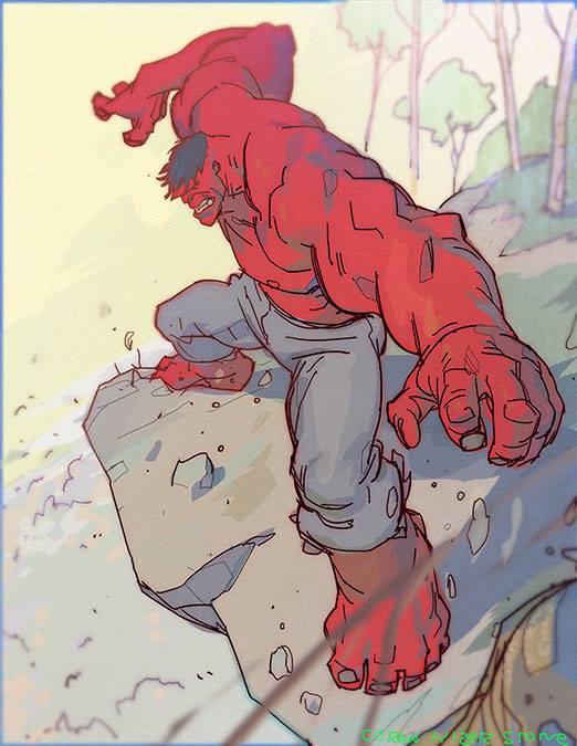 Red Hulk by CoranKizerStone