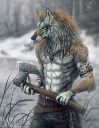A young warrior by Whiluna