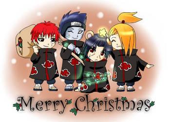 happy cristmas akatsuki by itaihoshigake