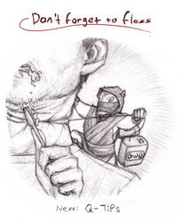 Rat-a-Sketch06: Don't Forget to Floss! by croovman