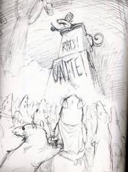 RATS! UNITE!!! (sketch) by croovman
