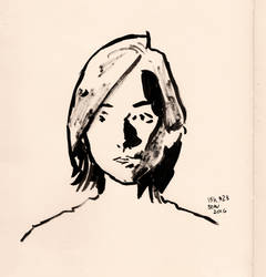 Inktober#23 - Sasha Portrait by croovman