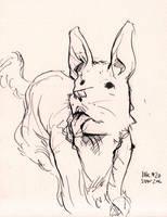 Inktober#27 - Doggy by croovman