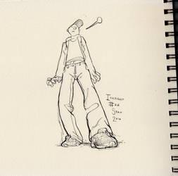 Inktober#26 - Too Weird for Weed by croovman